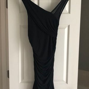 Express black slimming midi dress